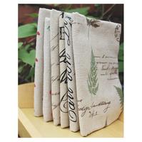 Free shipping linen fabric set 45*50cm/piece  6design/set Fat Quarters linen set zakka designs handmade material home deco