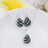 New Arrival Shamballa Set Shamballa Crystal Jewelry Set Fashion Crystal Wedding Jewelry SBS067