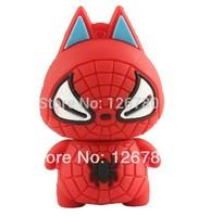 Full Capacity Plastic Spiderman USB 3.0 Shape Pen Drive Sticker  8 16 32 64gb U Stick  Memory Stick Portable Memory Disk