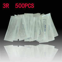 3RL 500Pcs Pre Sterilized Package Traditional Needle Permanent Makeup Eyebrow Needles Free shipping