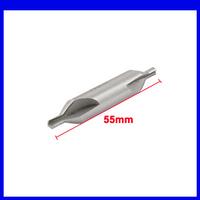 Free shipping 4mm x 10mm x 55mm HSS A Type Center Spotting Drill Bits Countersinks Gray10pcs