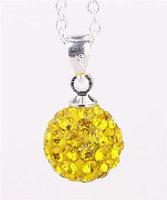 Fashion Jewelry Shamballa Necklace New Tresor Paris Allure CZ Disco Ball Bead SBP019