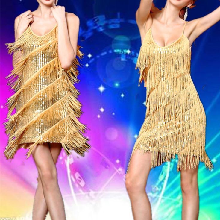 Vestido de franja dourado de Ivete Sangalo