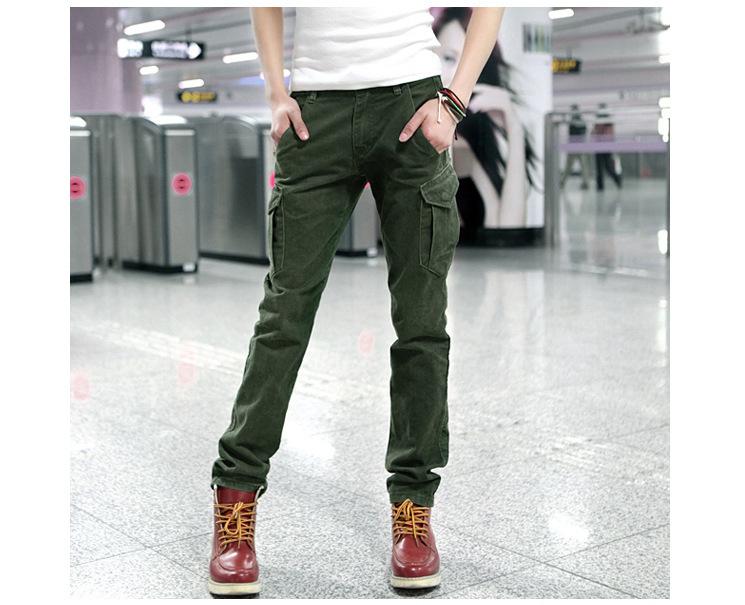 Slim Homme 2014 Slim Pantalon Homme Cargo