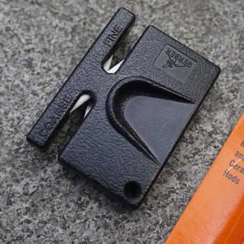 Мини портативный дуплекс керамическая заточки ножей ремонт для на открытом воздухе многофункциональный точилка для точильный камень