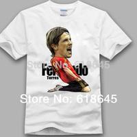 2014 World Cup Summer Soccer football leisure creative short-sleeved cotton T-shirt for fans