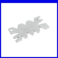 Silver Tone Screw Cut Angle Measuring Thread Cutting Gauge