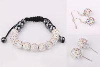 New Arrival Shamballa Set Shamballa Crystal Jewelry Set Fashion Crystal Wedding Jewelry SS096
