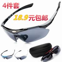 2014 New Riding eyewear goggles windproof sand bicycle outside sport mountain bike transparent myopia polarized sunglasses
