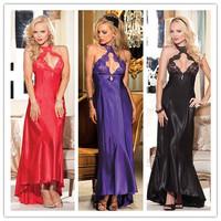 Sexy Lingerie Women Robe Silk Langerie Long Pyjamas Night Dresses