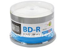 50 Pack 25GB BD-R 2-10X Speed High Grade Ritek/Arita Printable Bluray Blank Disc