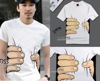 t shirt homme new 2014 Short-sleeve T-shirt men's clothing 3dt t-shirt men famous brand sport  t-shirt homme
