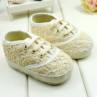 High Quality Baby Girl Lace Flower Shoes Toddler Soft Sole Shoes Hollow Out Free &Drop shipping