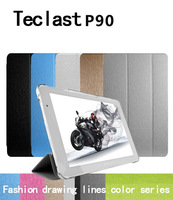 Free shipping ,9 inch  Teclast P90 Magnetic Slim Folding Flip Case Cover Stand with Wake Sleep function + one OTG as gift