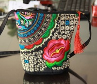 Free Shipping! Vintage national trend one shoulder cross-body bag small embroidered shoulder bag women's casual bag coin purse