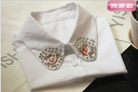 2014 False Shirt Collar Women Apparel Accessories black Detachable Collar Wholesale