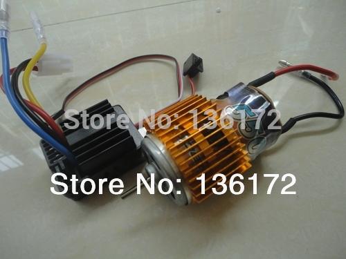 1/10 rc car 550 Brush motor +hobbywing 320A 40amp Brush ESC waterproof WP-1040 2pcs/set free shipping(China (Mainland))