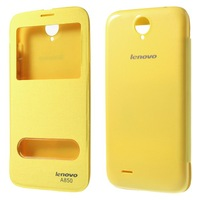 1pcs High Quality Lenovo A850 Case,Dual Window View Leather Flip Battery Housing Cover for Lenovo A850