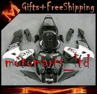 For Honda CBR600RR 2003 2004 west black Plastic Fairing Fit CBR 600 RR 2003 2004 03 F W8- INJECTION MOLD ABS fairing