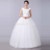 HOT Free shipping designer bride wedding dress lace 2015 latest vintage princess bridal dress HS031