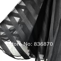 150cm width stripe organza fabric,georgette tulle fabric bridal tulle black color for wedding backdrop,ball gown,lining curtain
