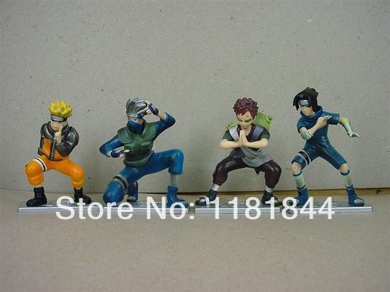 New presale Naruto 4 role set Naruto Haruno Sakura Kakashi Japanese anime cartoon character PVC Hand to do Car toy jewelry(China (Mainland))