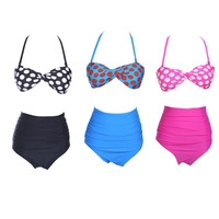 Good Quality Women's Bikini Two Pieces Swimsuit Swimwear Vintage Pin Up High Waist Bikini Set Size S/M/L/XL New arrive