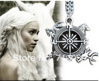 20pcs/lot Wholesale Vintage Charm Game of Thrones Inspired Intro Theme Crest Pendant Compass Necklace,original factory supply