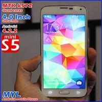 new 2014 brand original phone Mini S5 I9600 Android 4.3 Smartphone MTK6572A Dual core 1.2Ghz 4G ROM WIFI Dual SIM 3G phone