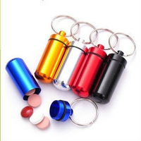 2014 new style Wholesale New style Cheap Outdoor Mini Pocketable Waterproof Aluminum medicine bottle WaterProof Box 10pcs/lot