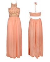 New Fashion 2014 Women Summer Dress Party Dresses Vestidos Long  Dress Copper b Halter-neck Racerback Tube Top  One-piece Dress