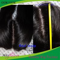 Silk base peruvian closure straight real scalp (light brown/medium brown/dark brown) invisible parting hidden knots natural #1b