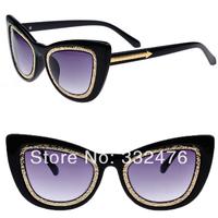 Vintage cat eye glasses Arrow New 2014 Luxury women sunglasses designer brand sunglasses, motorcycle driving glasses