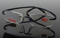 New fashion men/women's rimless reading glasses magnifier in high quality go with the original cases