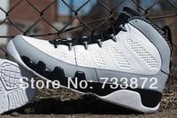 "New release good quality Mens cheap White/Black-Wolf Grey ""barons"" 9 Birmingham retro IX 302370-106 basketball shoes"