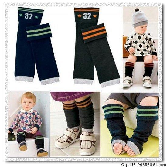 2pairs/lot baby leg warmer cotton infant kneepad kids knee safety free shipping(China (Mainland))