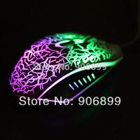 LED Backlight Backlit USB Illuminated Game Gaming Keyboard w/ 2400DPI Game Mouse
