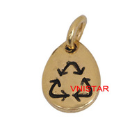 40pcs Vnistar alex and ani charms diy waterdrop shape bracelet charms free shipping AAC010