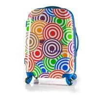 26 trolley luggage bag travel bag luggage multicolour rib knitting general