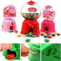 Creative Toy korea Hot mini Candy machine Chocolate bean candy Multipurpose Piggy bank Storage jar Kids gift for Children toy