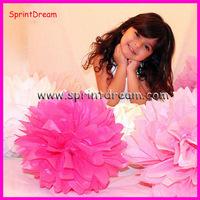 Wholesale - Free Shipping 10pcs 50cm Tissue Paper Pom Poms