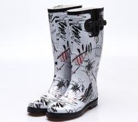 Trend 2014 spring gaotong overshoes fashion rainboots rain boots female rain boots B4231125