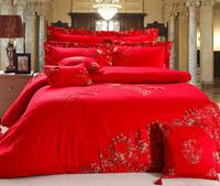 8pcs/9pcs/10pcs 2014 new arrival bedding set cotton satin jacquard and embroidered duvet cover set export quality quilt cover