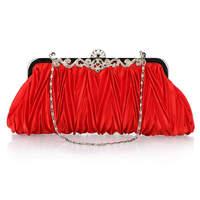 Hot sale korean clutch bags evening bags for women all match drape bride dress handbags WQ001