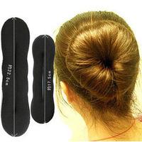 Twist Hair Styling Tools 4PCS Black Magic Bun Maker Sponge Donut Hair Bun Ring Sponge Bun Roller Curling Irons 22.5*5cm