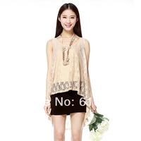 Itisf4 2014 women's short-sleeve o-neck irregular skirt solid color cutout lace one-piece dress medium skirt