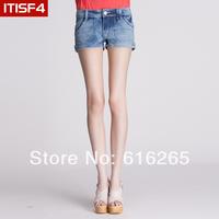 Itisf4 2014 summer female fashion sexy all-match water wash denim shorts