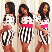 european style sexy club dress 2014 bandage dress celebrity dresses bodycon clubwear woman clothes TY061