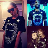 Bigbang fashion street print lovers short-sleeve T-shirt 2810