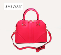 Free shipping!Smilyan 2014 new women genuine leather totes embossed rivet shaping bag women messenger bags wallets handbags 8036